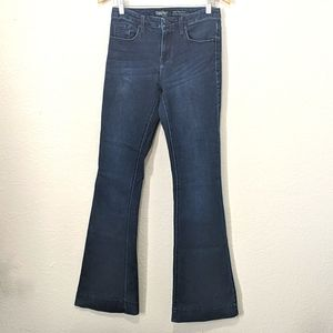Mossimo High Rise, Dark Denim, Flare Jeans, Size 4